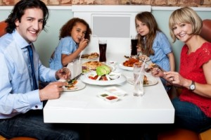 cheerful-family-enjoying-dinner